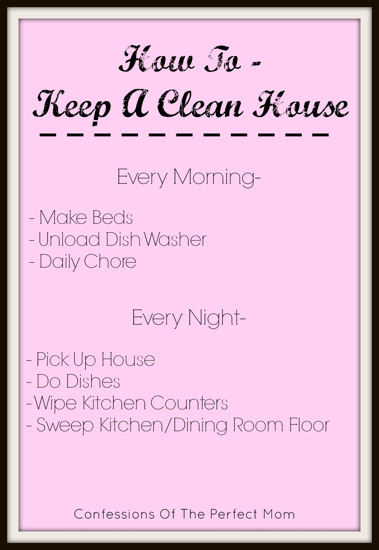 How to keep a clean house confessions of the perfect mom How to keep house clean